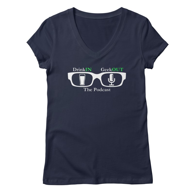 White Beer Goggles Women's Regular V-Neck by DrinkIN GeekOUT's Artist Shop