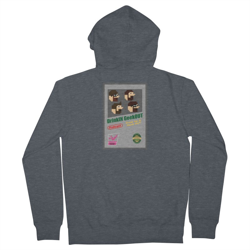 DiGo Box Art Women's French Terry Zip-Up Hoody by DrinkIN GeekOUT's Artist Shop