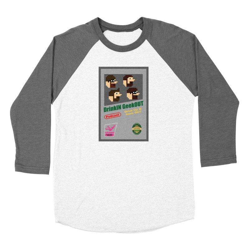 DiGo Box Art Women's Baseball Triblend Longsleeve T-Shirt by DrinkIN GeekOUT's Artist Shop