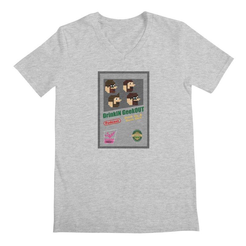 DiGo Box Art Men's Regular V-Neck by DrinkIN GeekOUT's Artist Shop