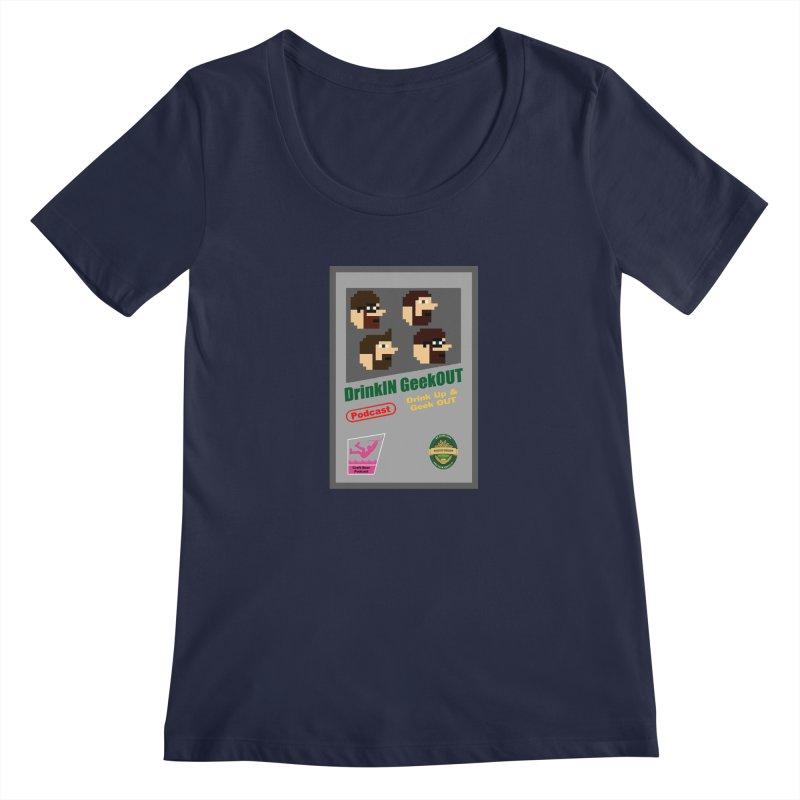 DiGo Box Art Women's Regular Scoop Neck by DrinkIN GeekOUT's Artist Shop