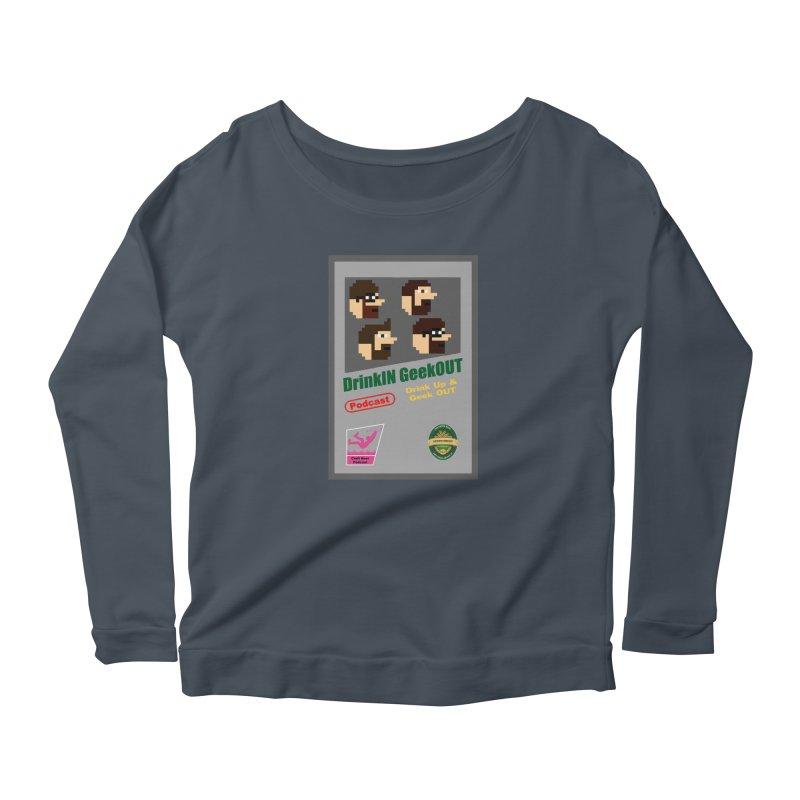 DiGo Box Art Women's Scoop Neck Longsleeve T-Shirt by DrinkIN GeekOUT's Artist Shop