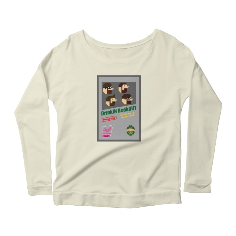 DiGo Box Art Women's Scoop Neck Longsleeve T-Shirt by DrinkIN GeekOUT's Artist Shop