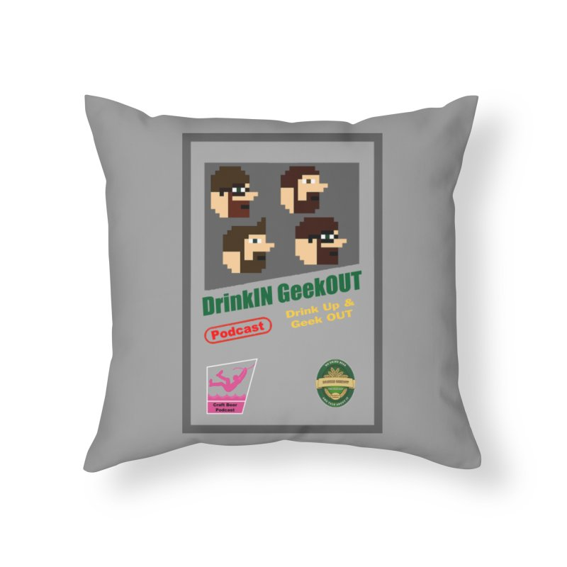 DiGo Box Art Home Throw Pillow by DrinkIN GeekOUT's Artist Shop