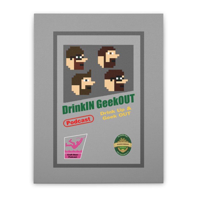 DiGo Box Art Home Stretched Canvas by DrinkIN GeekOUT's Artist Shop