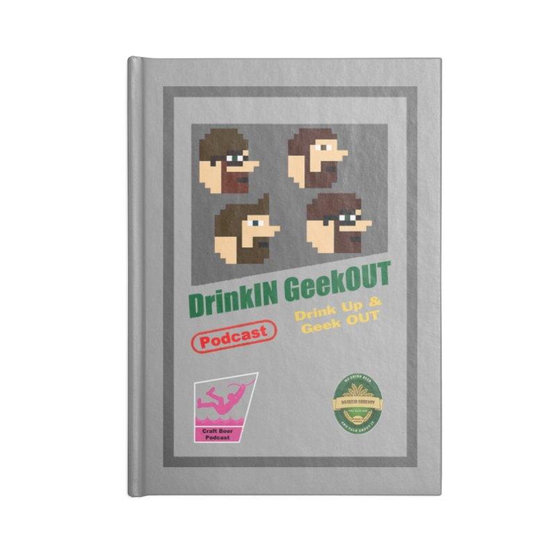 DiGo Box Art Accessories Blank Journal Notebook by DrinkIN GeekOUT's Artist Shop