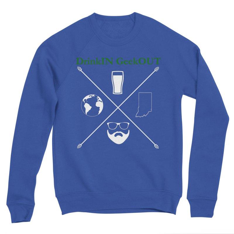 White Hopster Women's Sponge Fleece Sweatshirt by DrinkIN GeekOUT's Artist Shop