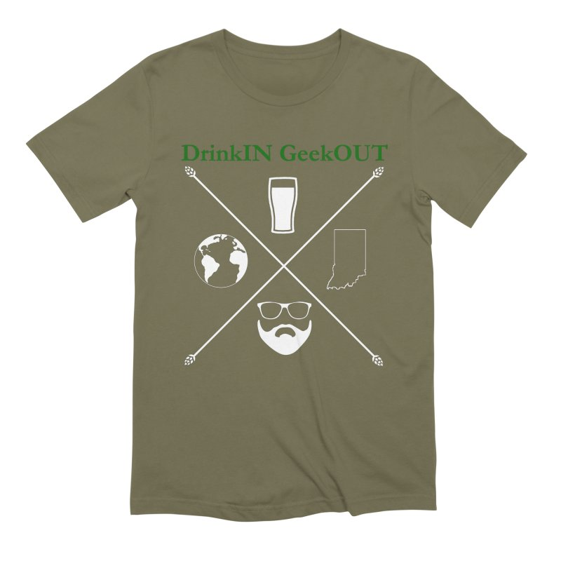 White Hopster Men's Extra Soft T-Shirt by DrinkIN GeekOUT's Artist Shop