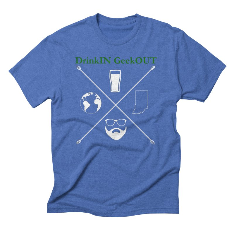 White Hopster Men's Triblend T-Shirt by DrinkIN GeekOUT's Artist Shop