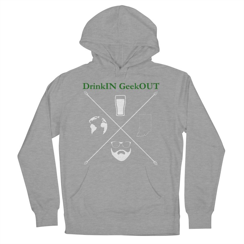 White Hopster Women's French Terry Pullover Hoody by DrinkIN GeekOUT's Artist Shop