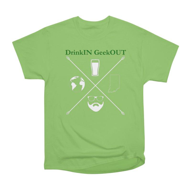 White Hopster Men's Heavyweight T-Shirt by DrinkIN GeekOUT's Artist Shop
