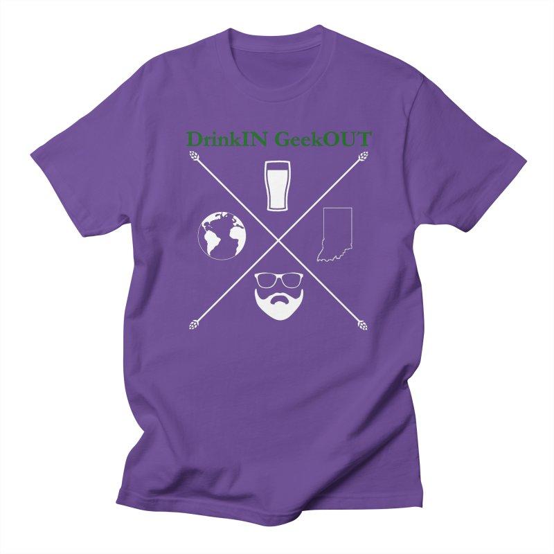 White Hopster Women's Regular Unisex T-Shirt by DrinkIN GeekOUT's Artist Shop