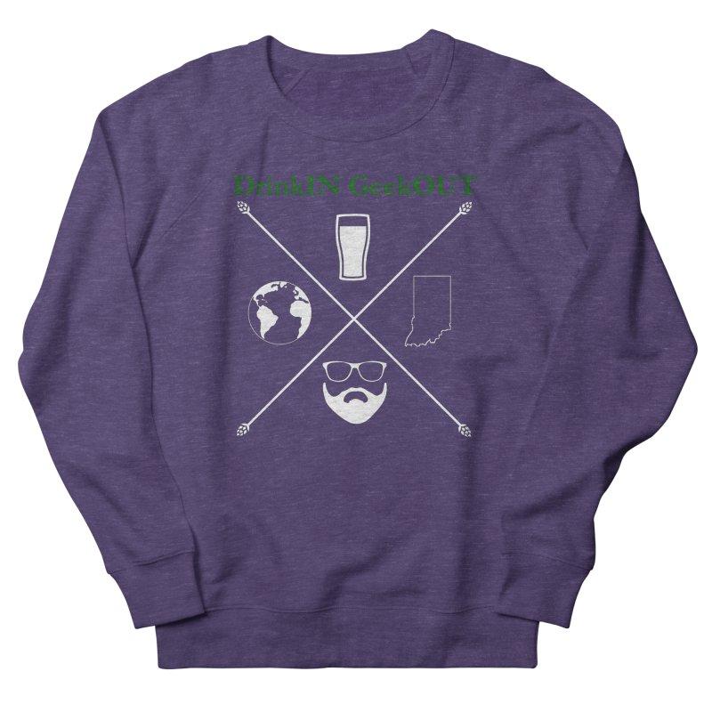 White Hopster Women's French Terry Sweatshirt by DrinkIN GeekOUT's Artist Shop