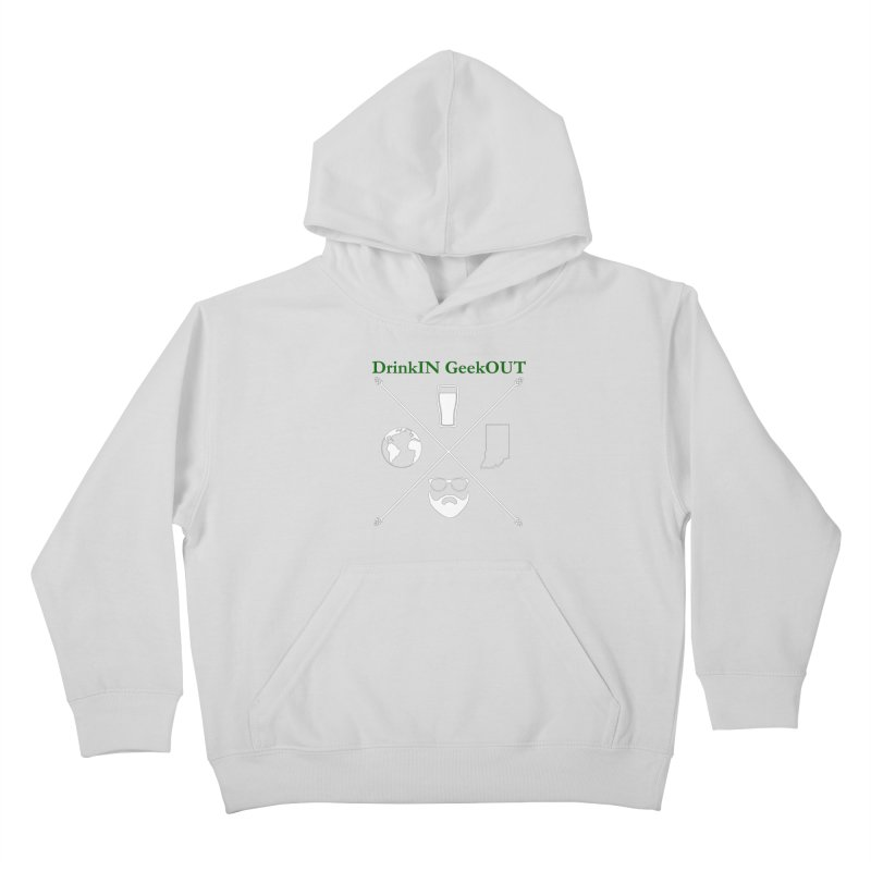 White Hopster Kids Pullover Hoody by DrinkIN GeekOUT's Artist Shop
