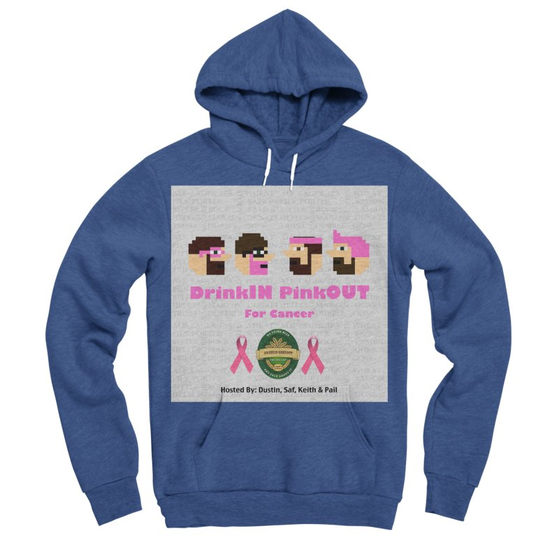DrinkIN PinkOUT Men's Sponge Fleece Pullover Hoody by DrinkIN GeekOUT's Artist Shop