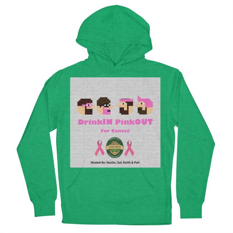 DrinkIN PinkOUT Men's French Terry Pullover Hoody by DrinkIN GeekOUT's Artist Shop