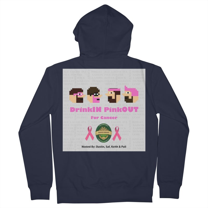 DrinkIN PinkOUT Women's French Terry Zip-Up Hoody by DrinkIN GeekOUT's Artist Shop