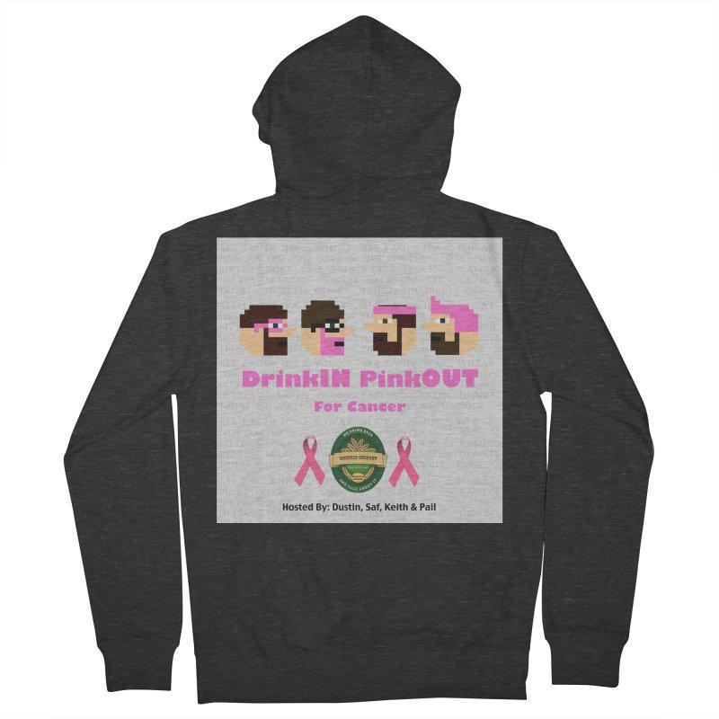 DrinkIN PinkOUT Men's French Terry Zip-Up Hoody by DrinkIN GeekOUT's Artist Shop
