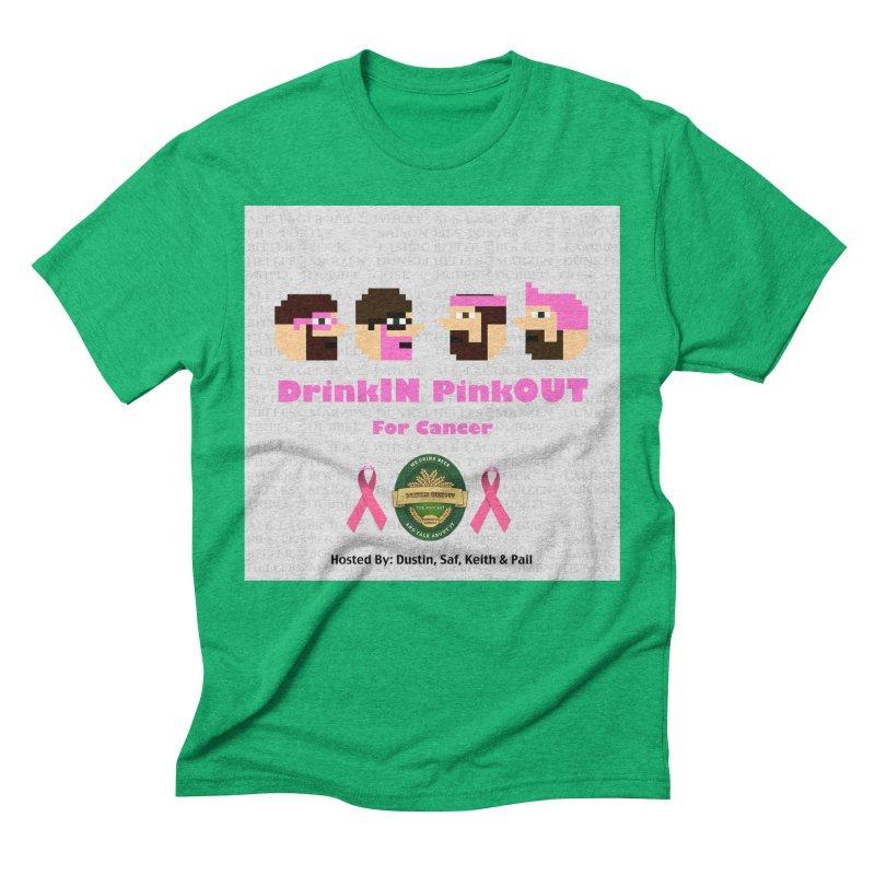 DrinkIN PinkOUT Men's Triblend T-Shirt by DrinkIN GeekOUT's Artist Shop