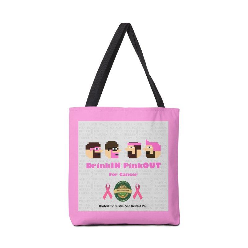 DrinkIN PinkOUT Accessories Bag by DrinkIN GeekOUT's Artist Shop