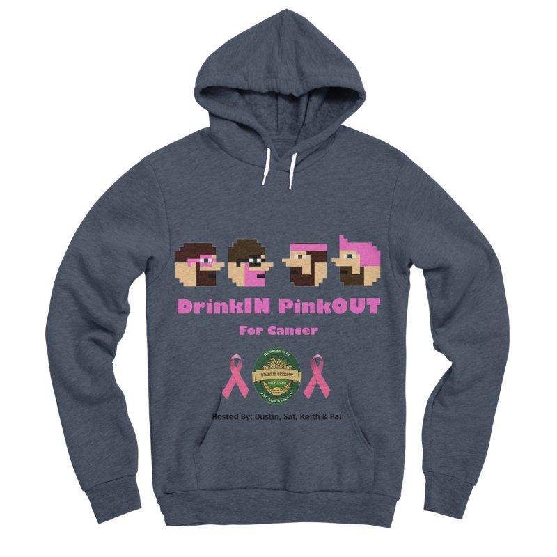 DrinkIN PinkOUT - no bg Women's Sponge Fleece Pullover Hoody by DrinkIN GeekOUT's Artist Shop