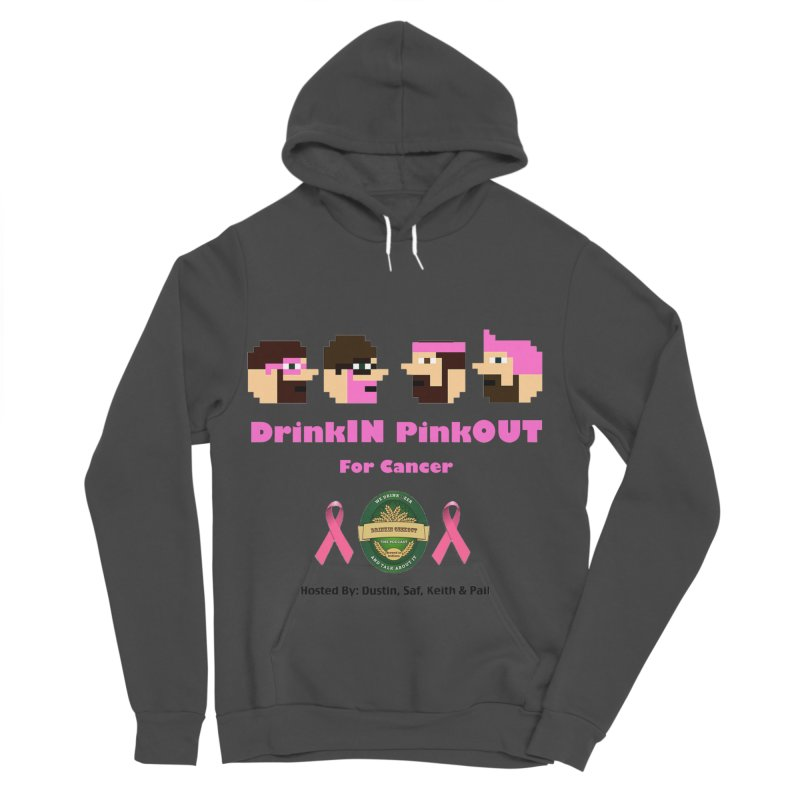 DrinkIN PinkOUT - no bg Men's Sponge Fleece Pullover Hoody by DrinkIN GeekOUT's Artist Shop