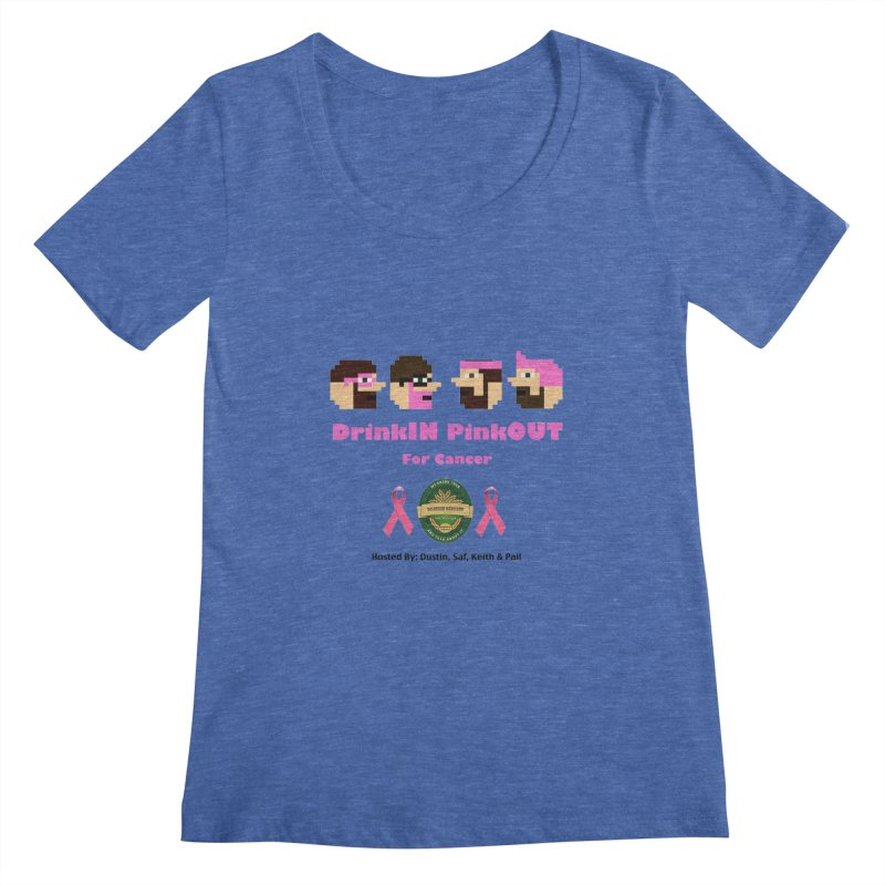 DrinkIN PinkOUT - no bg Women's Regular Scoop Neck by DrinkIN GeekOUT's Artist Shop