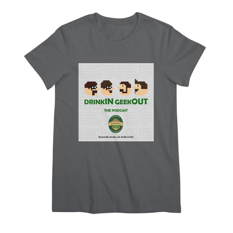 Movember Women's Premium T-Shirt by DrinkIN GeekOUT's Artist Shop