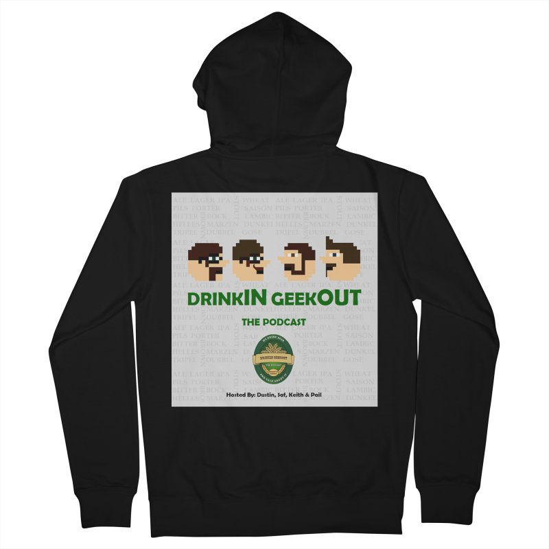 Movember Men's French Terry Zip-Up Hoody by DrinkIN GeekOUT's Artist Shop