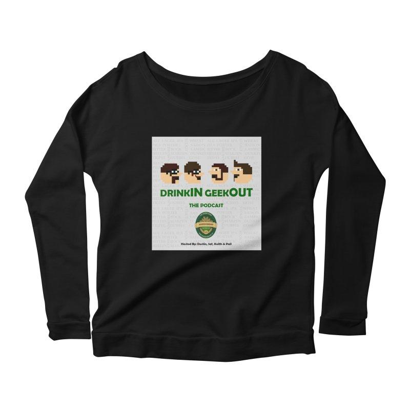 Movember Women's Scoop Neck Longsleeve T-Shirt by DrinkIN GeekOUT's Artist Shop