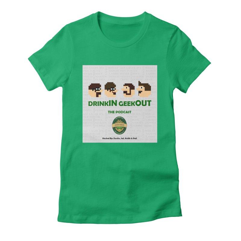 Movember Women's Fitted T-Shirt by DrinkIN GeekOUT's Artist Shop