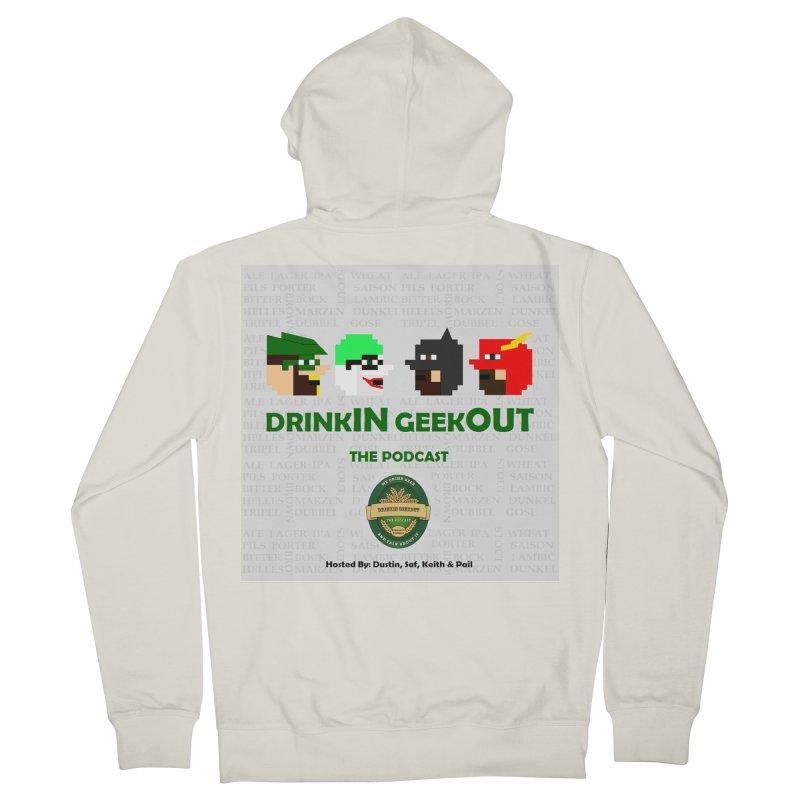 DC DiGo Men's French Terry Zip-Up Hoody by DrinkIN GeekOUT's Artist Shop