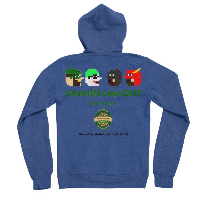 DC DiGo (no fill) Men's Sponge Fleece Zip-Up Hoody by DrinkIN GeekOUT's Artist Shop