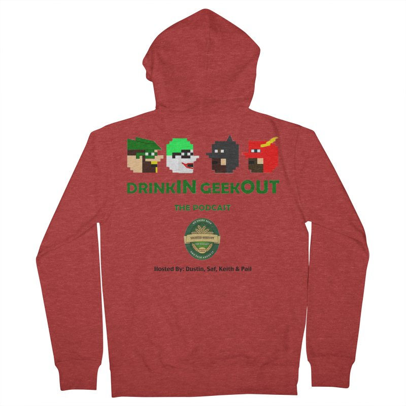 DC DiGo (no fill) Women's French Terry Zip-Up Hoody by DrinkIN GeekOUT's Artist Shop