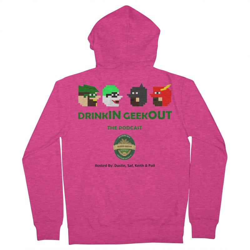 DC DiGo (no fill) Women's French Terry Zip-Up Hoody by DrinkIN GeekOUT's Artist Shop
