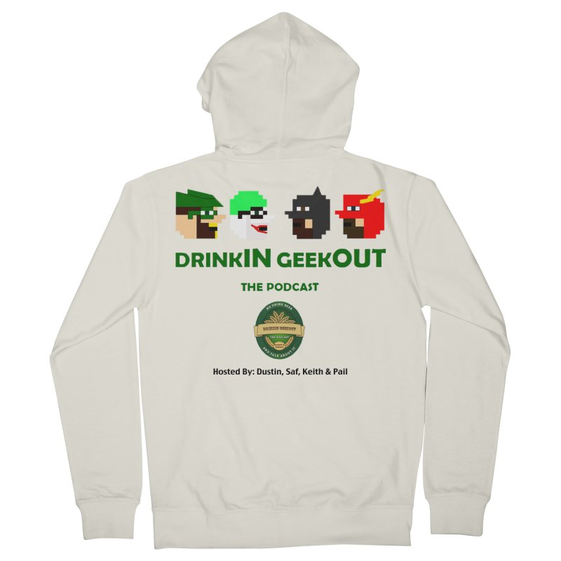 DC DiGo (no fill) Men's French Terry Zip-Up Hoody by DrinkIN GeekOUT's Artist Shop