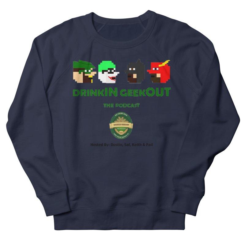 DC DiGo (no fill) Men's French Terry Sweatshirt by DrinkIN GeekOUT's Artist Shop