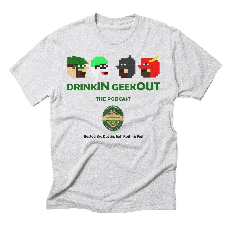 DC DiGo (no fill) Men's Triblend T-Shirt by DrinkIN GeekOUT's Artist Shop