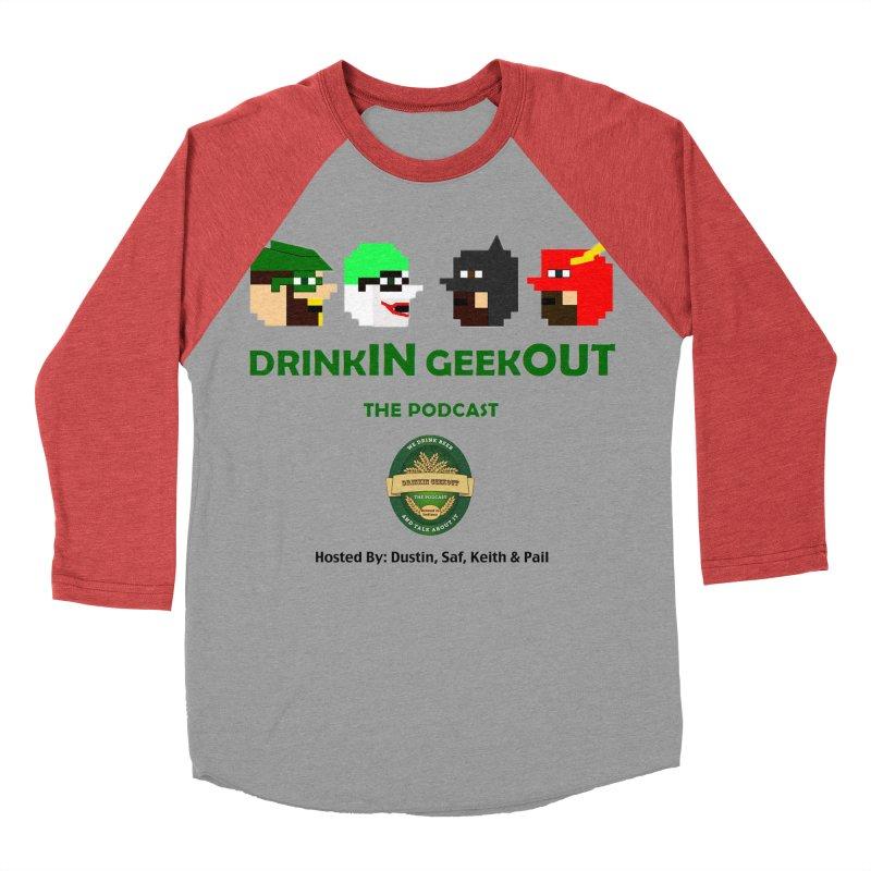 DC DiGo (no fill) Women's Baseball Triblend Longsleeve T-Shirt by DrinkIN GeekOUT's Artist Shop
