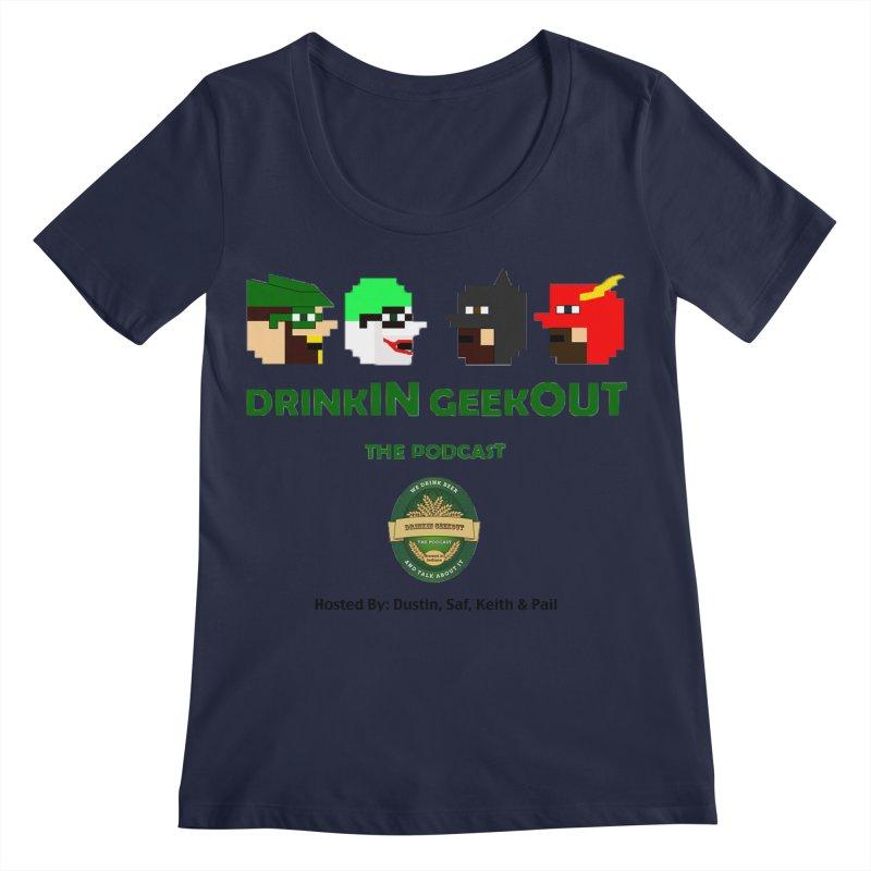 DC DiGo (no fill) Women's Regular Scoop Neck by DrinkIN GeekOUT's Artist Shop