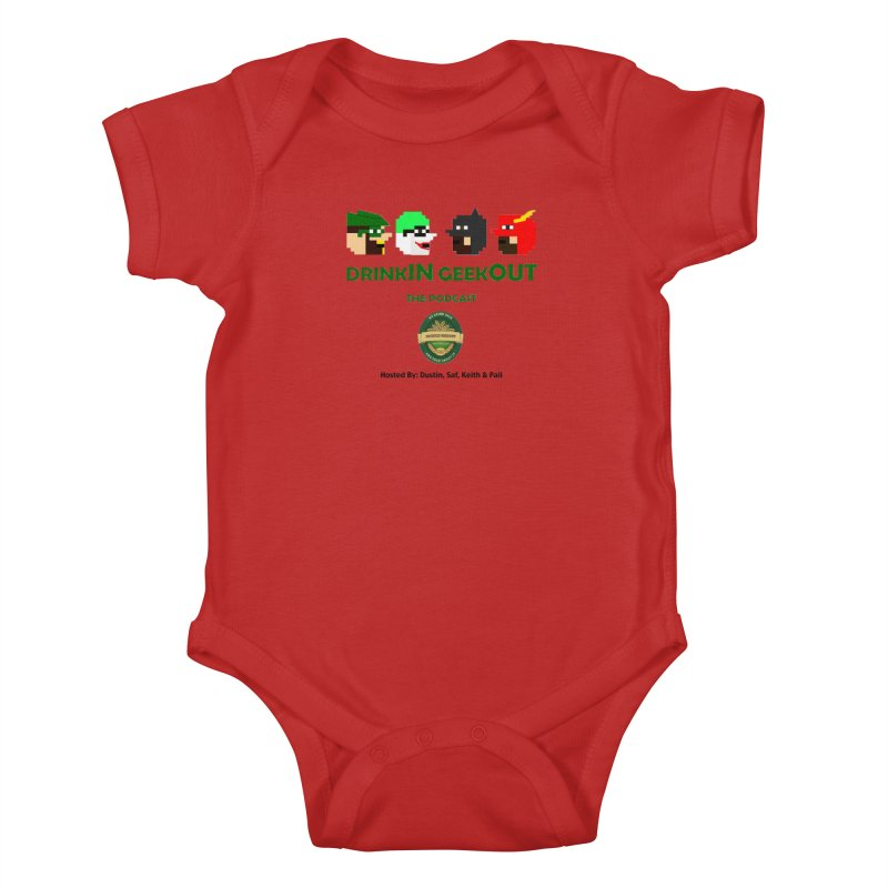 DC DiGo (no fill) Kids Baby Bodysuit by DrinkIN GeekOUT's Artist Shop