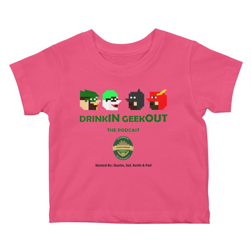 DC DiGo (no fill) Kids Baby T-Shirt by DrinkIN GeekOUT's Artist Shop