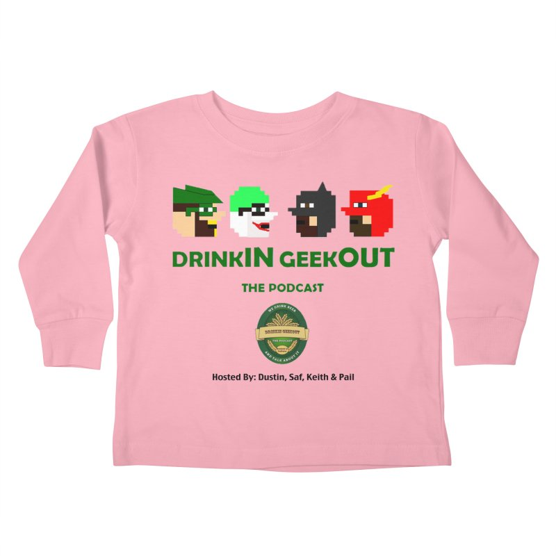 DC DiGo (no fill) Kids Toddler Longsleeve T-Shirt by DrinkIN GeekOUT's Artist Shop