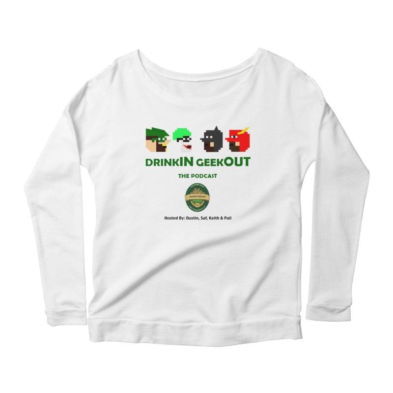 DC DiGo (no fill) Women's Scoop Neck Longsleeve T-Shirt by DrinkIN GeekOUT's Artist Shop