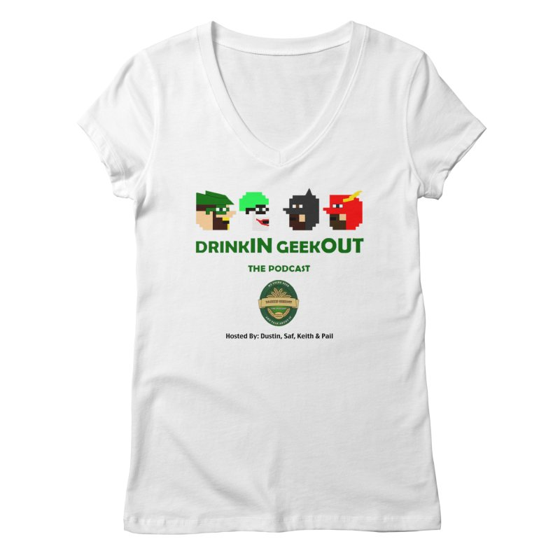 DC DiGo (no fill) Women's Regular V-Neck by DrinkIN GeekOUT's Artist Shop