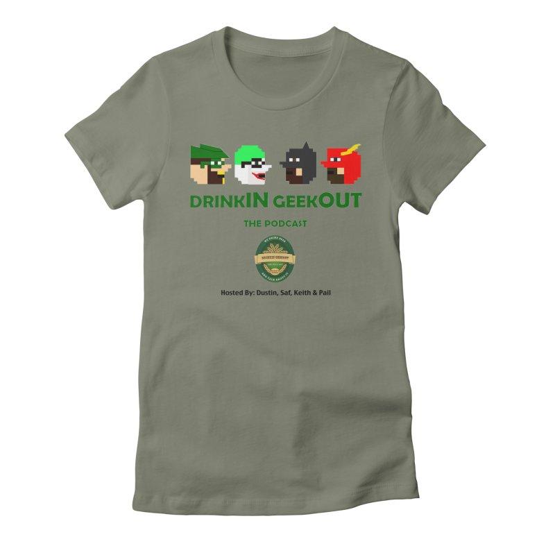DC DiGo (no fill) Women's Fitted T-Shirt by DrinkIN GeekOUT's Artist Shop