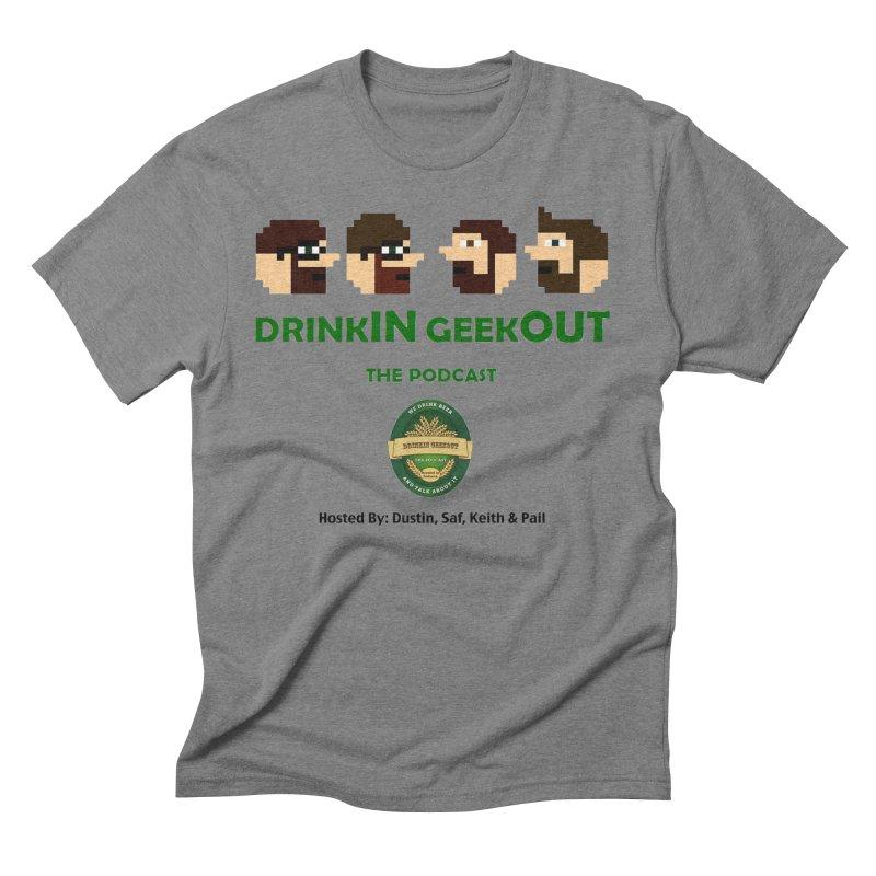 DiGo (no fill) Men's Triblend T-Shirt by DrinkIN GeekOUT's Artist Shop