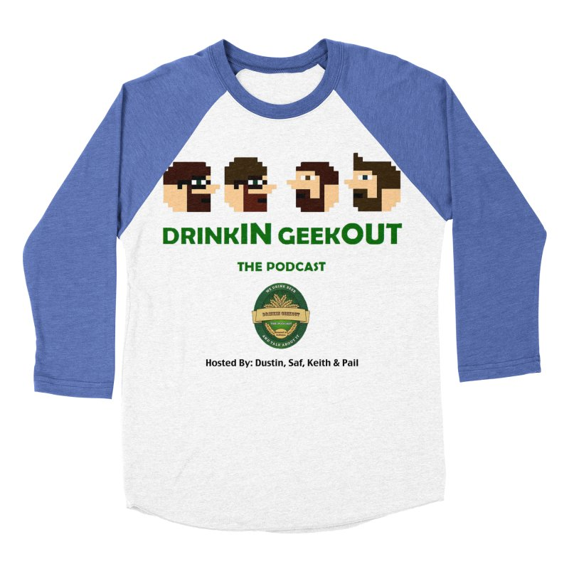 DiGo (no fill) Women's Baseball Triblend Longsleeve T-Shirt by DrinkIN GeekOUT's Artist Shop