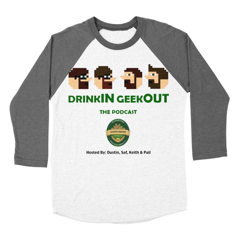 DiGo (no fill) Women's Baseball Triblend Longsleeve T-Shirt by DrinkIN GeekOUT's Artist Shop