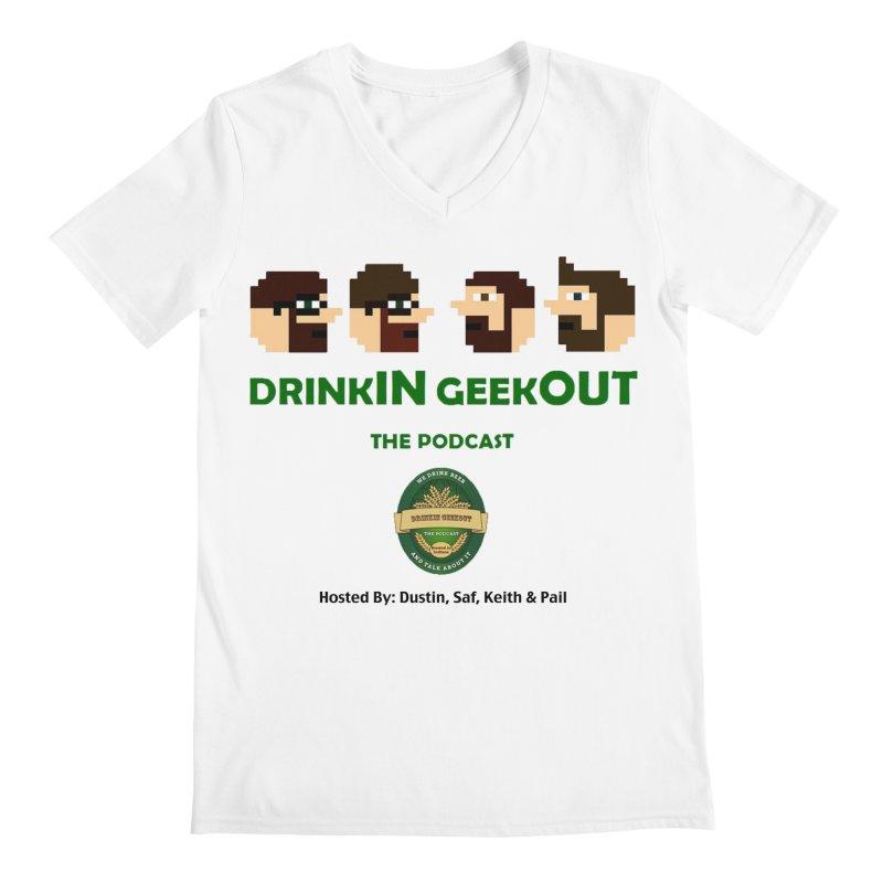 DiGo (no fill) Men's Regular V-Neck by DrinkIN GeekOUT's Artist Shop